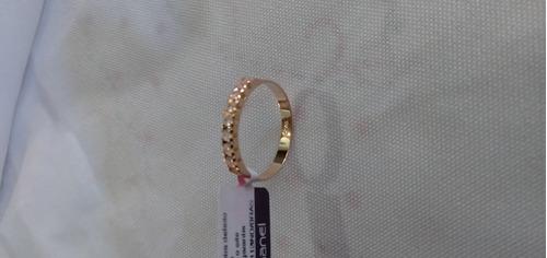 anel chapeado 18k