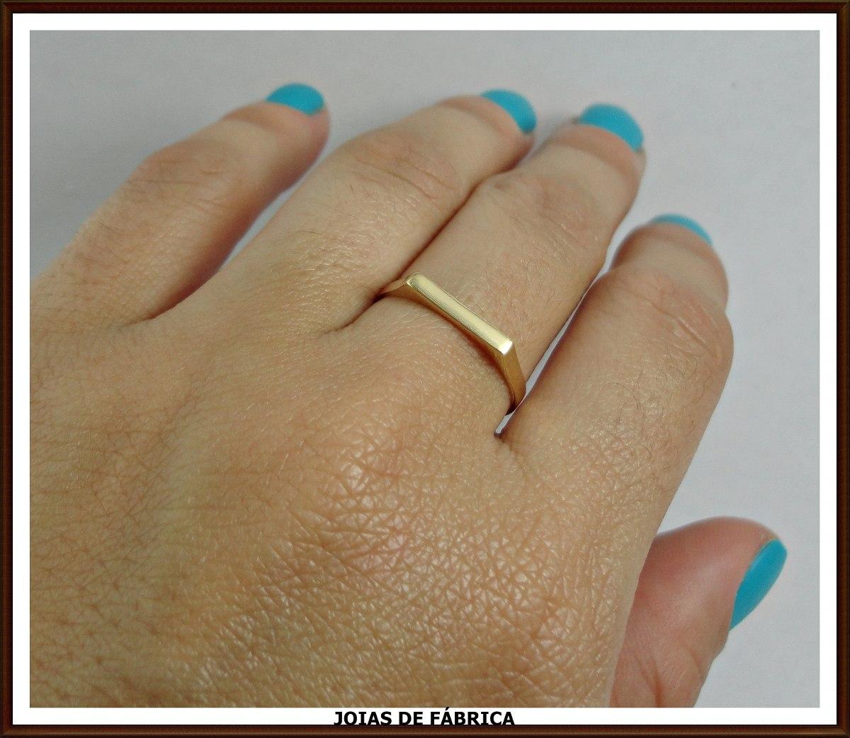 b811f1944910a Anel Chapinha Em Ouro 18k Frete Grátis - R  450,00 em Mercado Livre