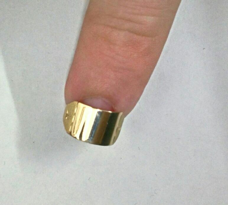 16bd62bae8256 Anel Chapinha Infantil Ouro 10k - R  70,85 em Mercado Livre