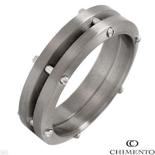 anel chimento uomo made in italy in al-aço-titanium