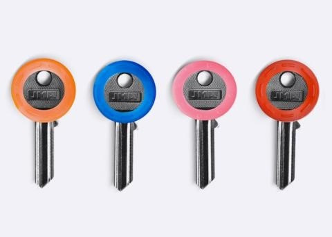 anel colorido para identificação de chaves - segurança
