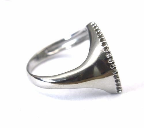 anel com 17 brilhantes em ouro 18k aro 18 - d539