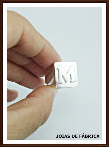 anel com letra prata
