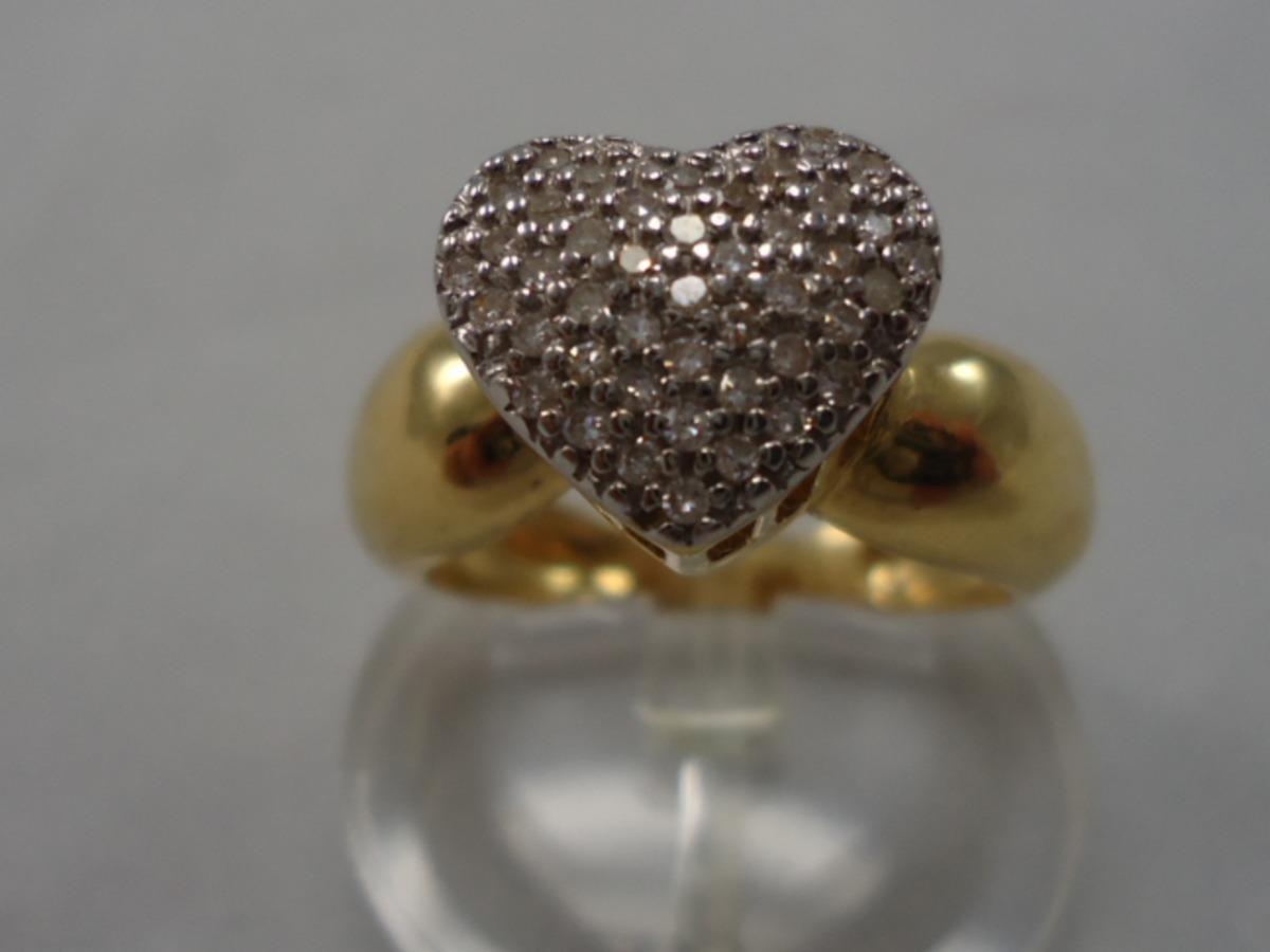 299dc3fd4390c Anel Coração De Ouro 18k Com Brilhantes Jr Joalheiro. - R  2.300,00 ...