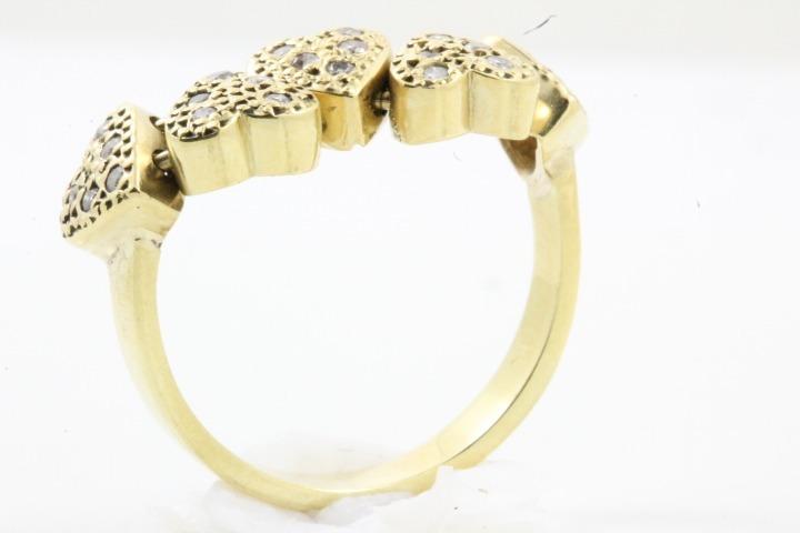c4aa70e2aec Anel Coração Movimento Ouro 18k Diamantes - R  1.250