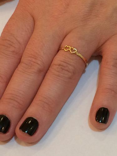 anel coração ouro 18k,com garantia. frete grátis