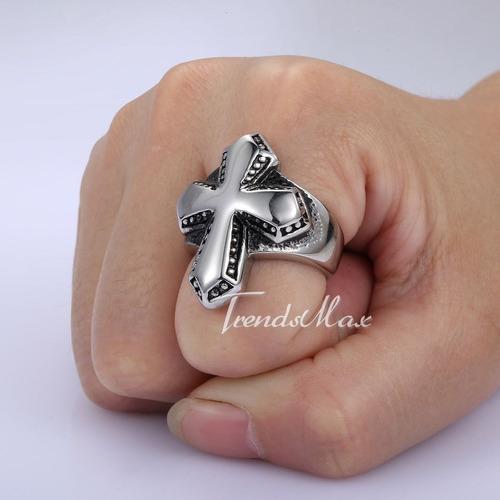 anel cruz dos templários-aço inox-aro 30 (23.mm)
