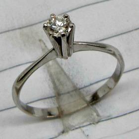 Anel De  Diamantes Lapidação Brilhantes 20 Pontos Aro 20