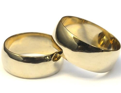 anel de casamento par 8mm moeda antiga + brindes