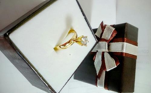 anel de compromisso ouro 18k