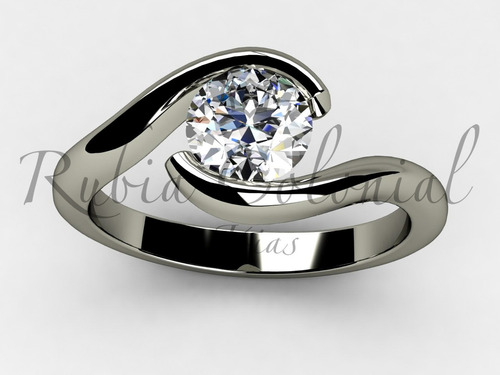 anel  de diamante 40 pontos.