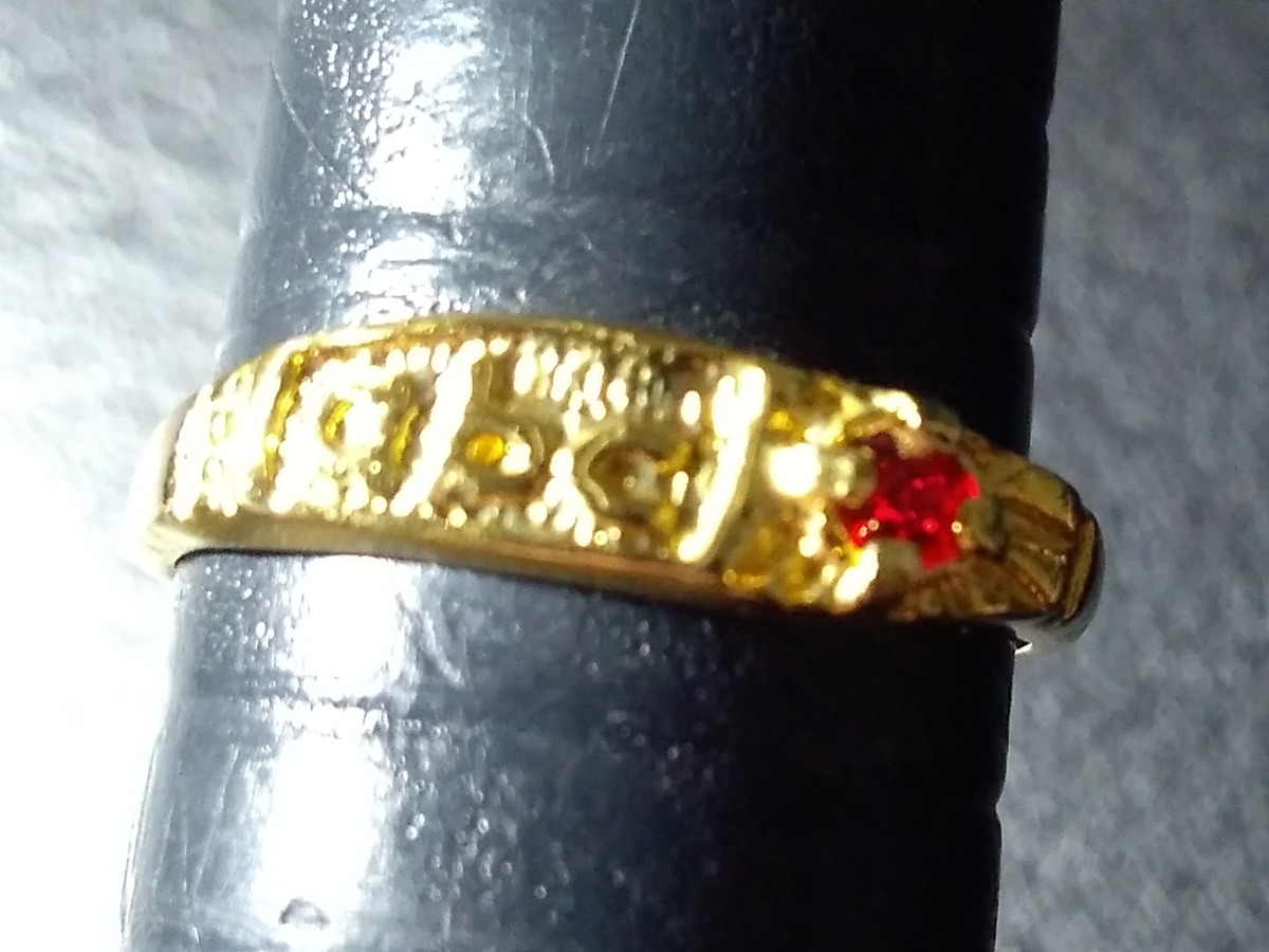 3c652632a3b anel de formatura do abc infantil folheado a ouro 18k. Carregando zoom.