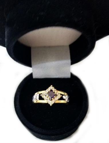 anel de formatura feminino ouro 18k zircônia 12 x sem juros