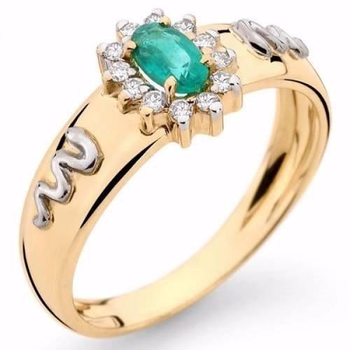 anel de formatura feminino ouro 18k zirconia 12 x sem juros