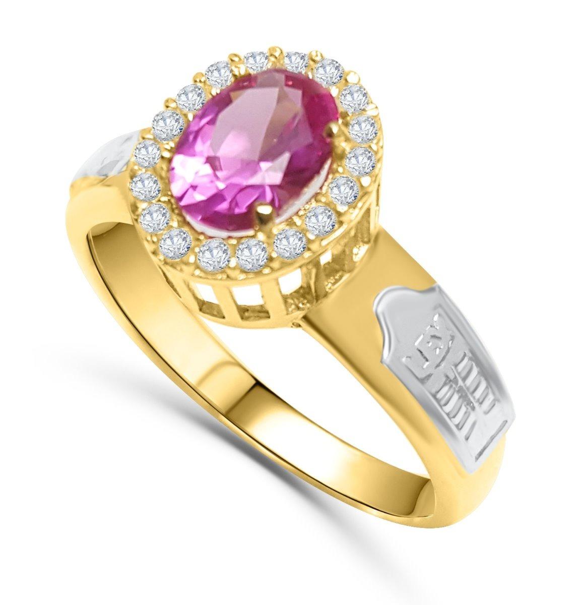 748e47caaf984 anel de formatura feminino pedras zircônias ouro puro 18k. Carregando zoom.