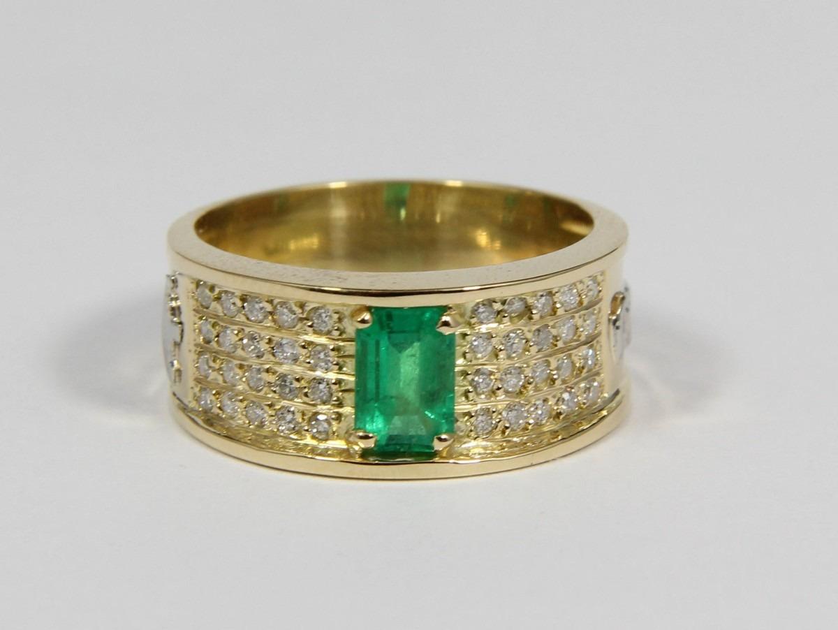 e6b53dadd5fe5 anel de formatura luxo diamantes e pedra natural. ouro 18k. Carregando zoom.
