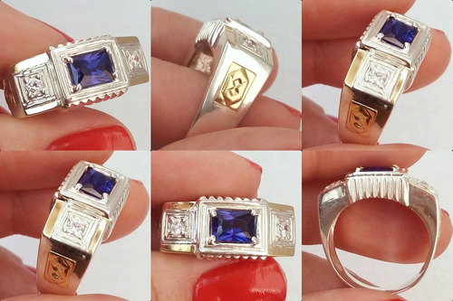 anel de formatura masculino prata símbolos oficiais ouro 18k