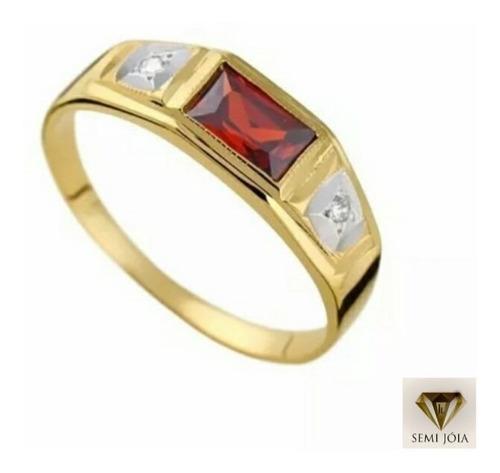 anel de formatura masculino todos cursos banhado a ouro 18 k