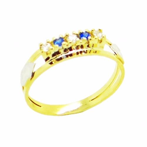 anel de formatura ouro 18k feminino com pedras 12x sem juros