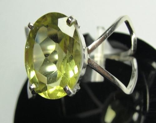 anel de heliodor amarelo em prata 950 oval imperdivel