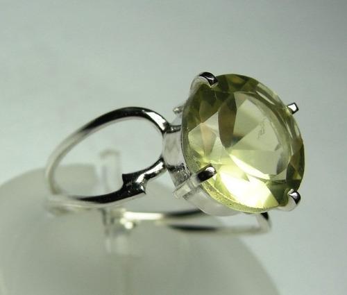 anel de heliodor amarelo em prata 950 redondo imperdível c67