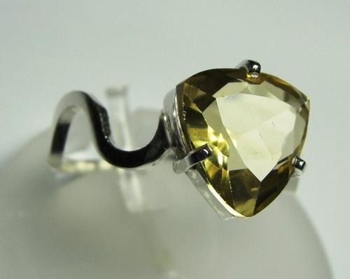anel de heliodor amarelo em prata 950 trilliant imperdivel
