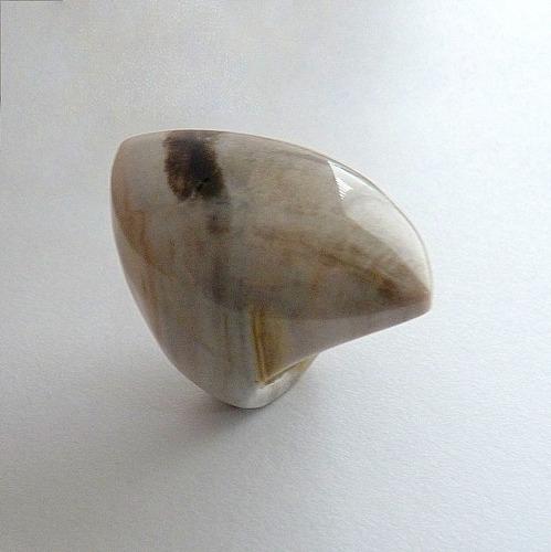 anel de madeira petrificada aro 19 cód 4987