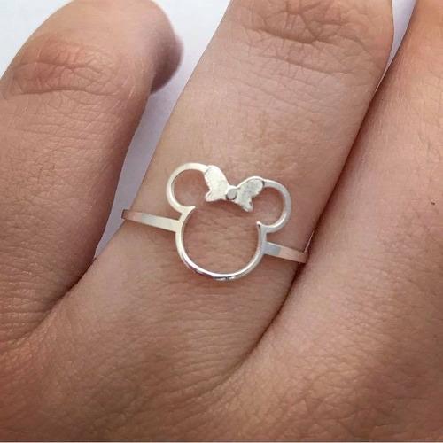 anel de minnie em prata 925