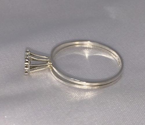 anel de noivado chuveiro de ouro branco 18k e brilhantes