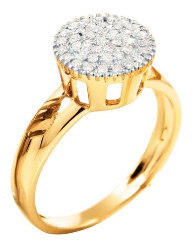 anel de noivado em ouro 18k 750 feminino com zircônias