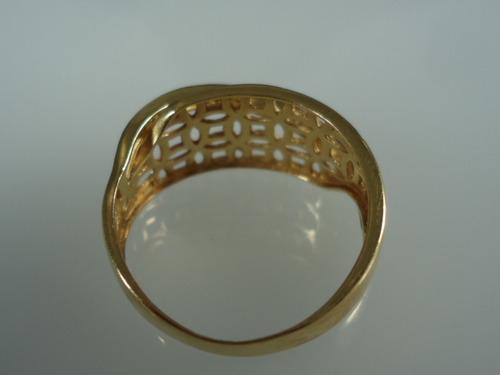 anel de ouro 18k com brilhantes jr joalheiro