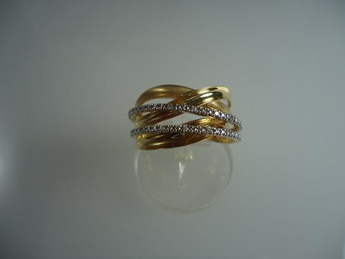 anel de ouro 18k com diamantes jr joalheiro
