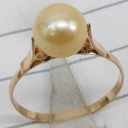 anel de ouro 18k rpw 1517 perola 6,5 a 7 mm