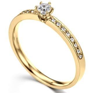 Anel De Ouro 18k Solitário Noivado C  Diamante De 10 Pontos - R ... ef903d3dd2