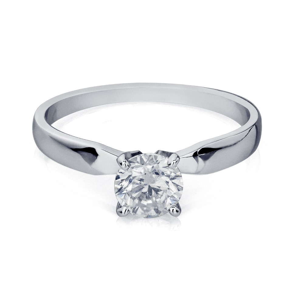 e39a33aea196e anel de ouro branco 18k solitário com diamante de 70 pontos. Carregando  zoom.