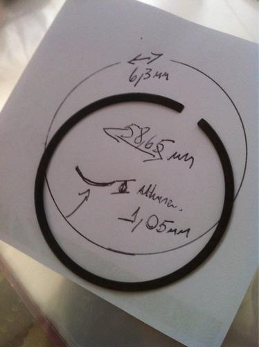 anel de pistão novo  para moto honda yam. suz. 58,65mm