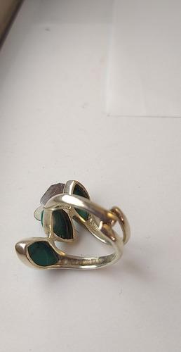 anel de prata 925 com turquesas