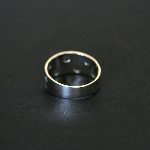 anel de prata 925 envelhecido simbolo menino / menino vazado
