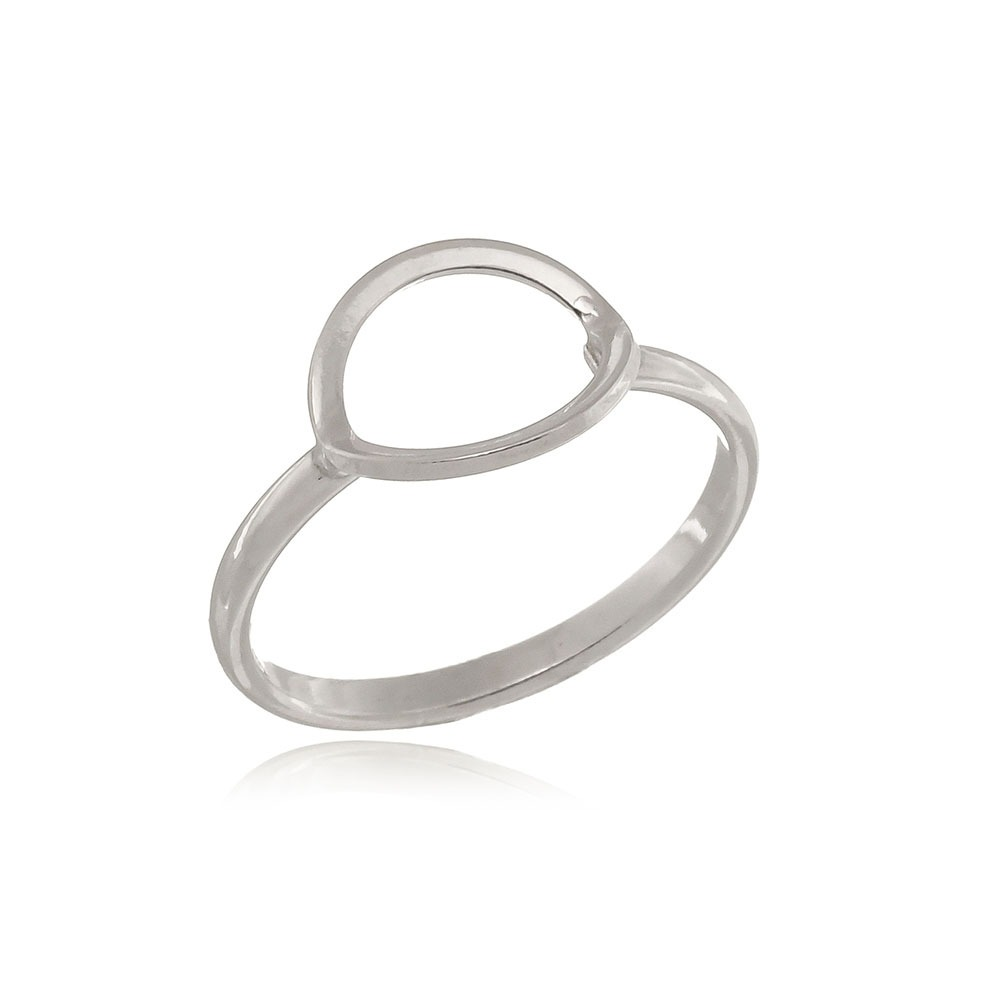 1277f0155a3 anel de prata 925 geométrico círculo vazado aro 15. Carregando zoom.