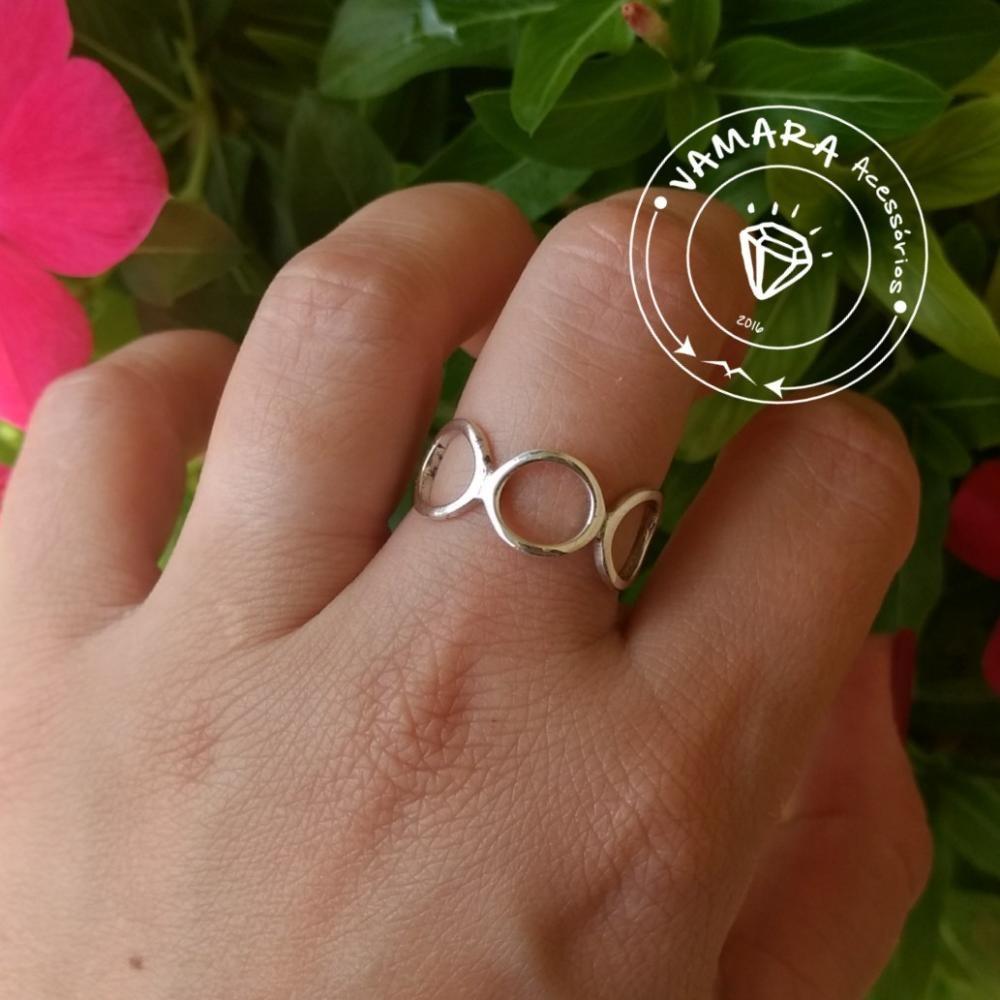 aa9be1f0b53 anel de prata 925 geométrico círculos   bolinhas aro 19. Carregando zoom.