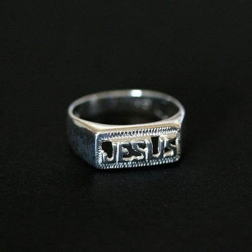 anel de prata 925 jesus