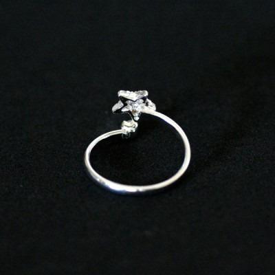 anel de prata 925 unha estrela para dedinho