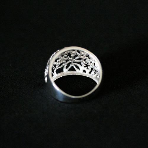 anel de prata 925 vazado