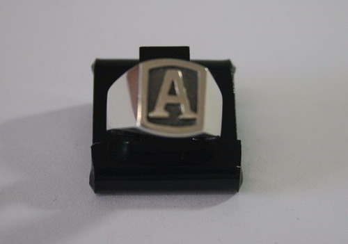 anel de prata masculino com letra - a257, a224