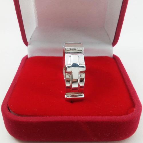 anel de prata masculino religioso terço quadrado prata 925