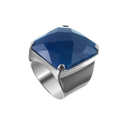 anel de prata quartzo azul