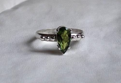 anel de turmalina - pear - sr44