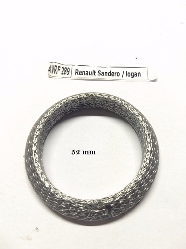 anel de vedação escapamento renault sandero / logan 52mm