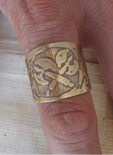 anel de xangô - anel orixás - informe o aro antes