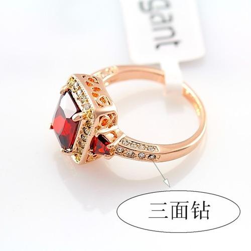 anel desejo rubi do amor folheado a ouro rosê 18k